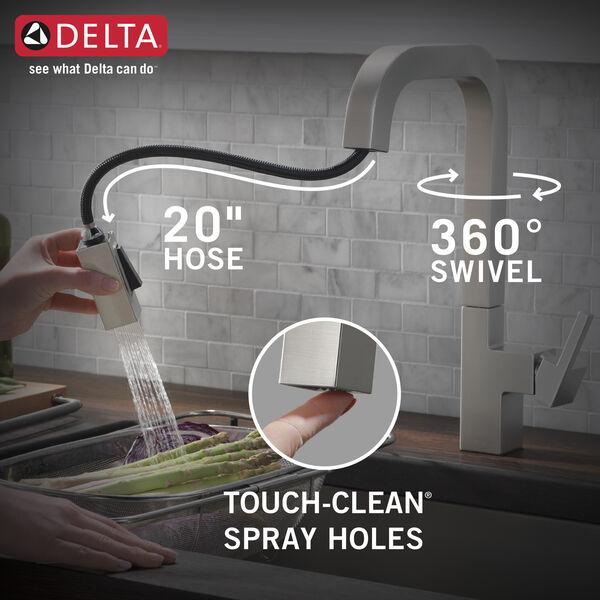 Single Handle Pull Down Kitchen Faucet 19825lf Sp Delta Faucet
