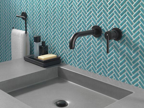 Single Handle Wall Mount Bathroom Faucet Trim, image 4