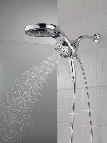 HydroRain® H<sub>2</sub>Okinetic® 5-Setting Two-in-One Shower Head, image 18