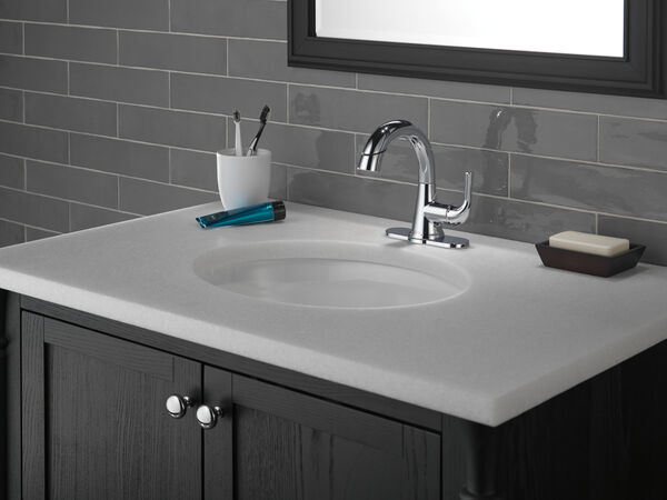 Single Handle Pull-Down Bathroom Faucet, image 5