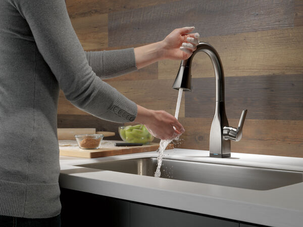 Single Handle Pull-Down Bar/Prep Faucet with Touch, image 6