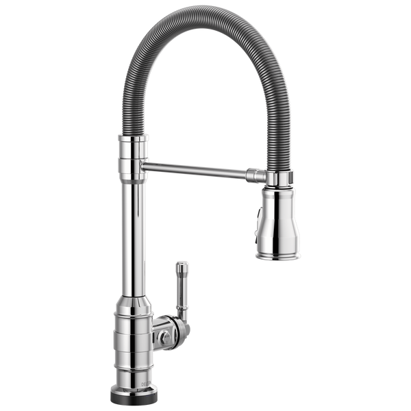 Single Handle Pull-Down Kitchen Faucet Spring Spout with Touch2O Technology, image 1