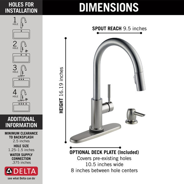 Single Handle Pull-Down Kitchen Faucet with Touch2O® Technology and Soap Dispenser, image 5