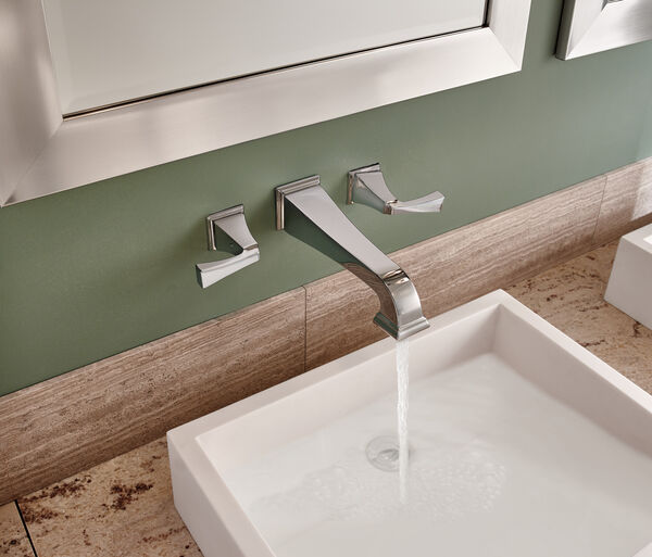 Two Handle Wall Mount Bathroom Faucet Trim, image 2