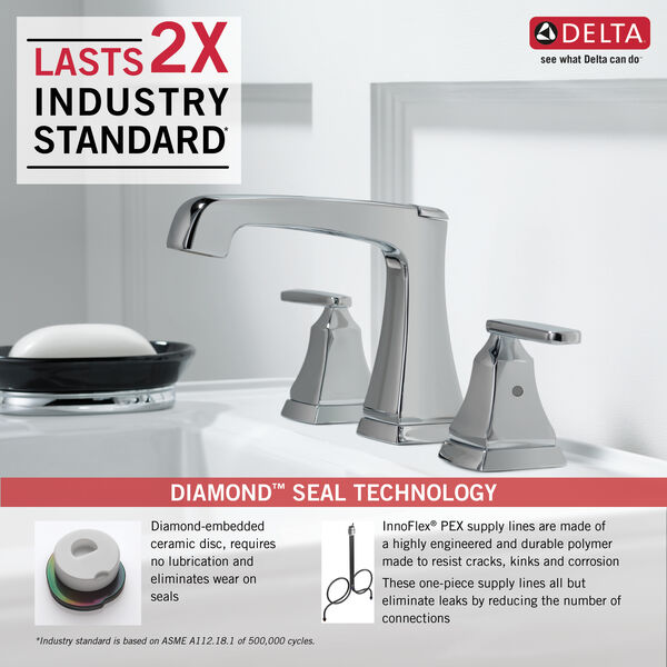 Two Handle Widespread Bathroom Faucet with EZ Anchor®, image 3
