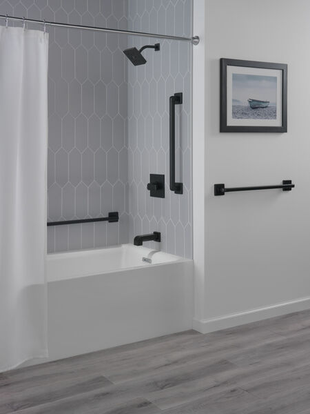 "42"" Angular Modern Decorative ADA Grab Bar, image 2"