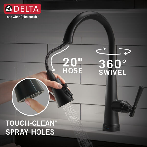 Single Handle Pull Down Kitchen Faucet with Touch2O Technology, image 15