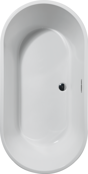 60 in. x 30 in. Freestanding Tub with Center Drain, image 3