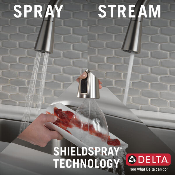 Single Handle Pull-Down Kitchen Faucet with Soap Dispenser and ShieldSpray® Technology (Recertified), image 8