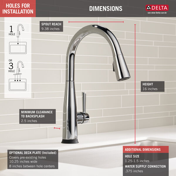 VoiceIQ™ Single Handle Pull-Down Faucet with Touch20® Technology, image 4