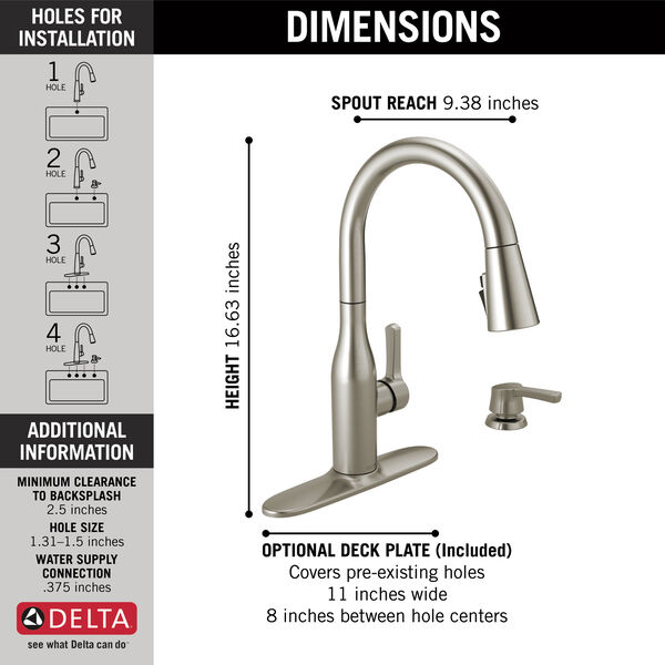 Single Handle Pull-Down Kitchen Faucet with Soap Dispenser and ShieldSpray® Technology (Recertified), image 4