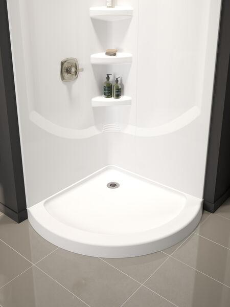 38'' Direct-to-Stud Corner Shower Wall Set, image 15