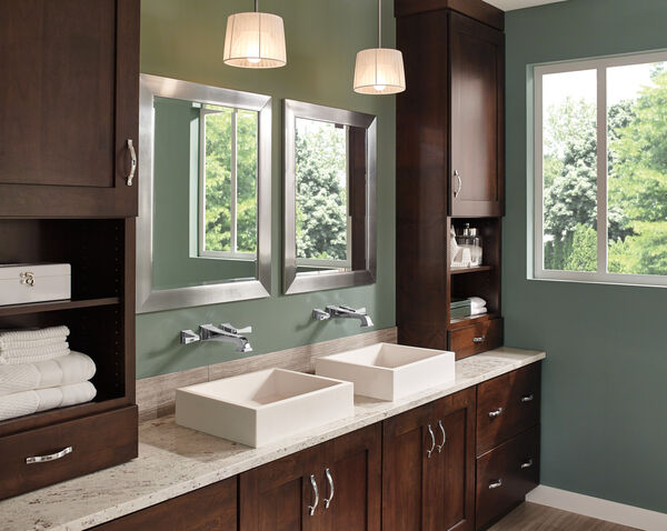 Two Handle Wall Mount Bathroom Faucet Trim, image 4