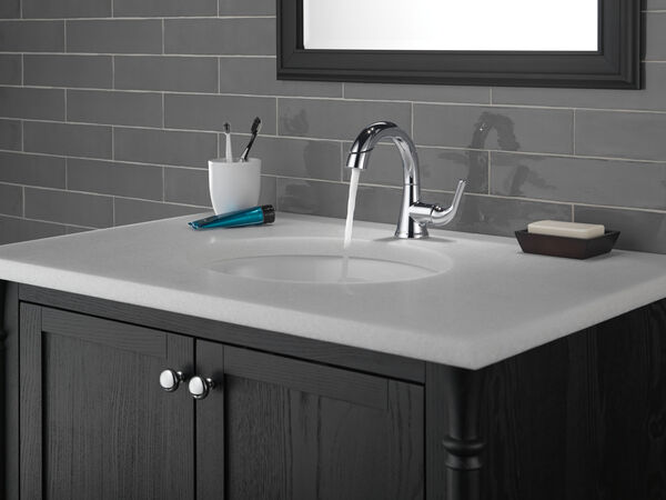 Single Handle Pull-Down Bathroom Faucet, image 13