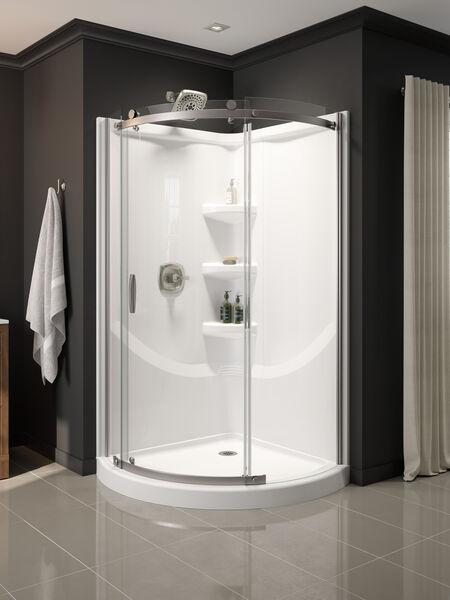 38'' Direct-to-Stud Corner Shower Wall Set, image 3