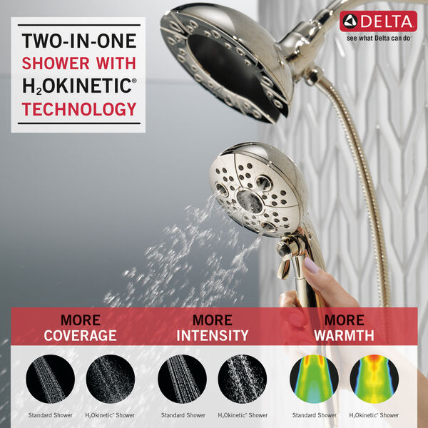 H<sub>2</sub>Okinetic® In2ition® 5-Setting Two-in-One Shower, image 2