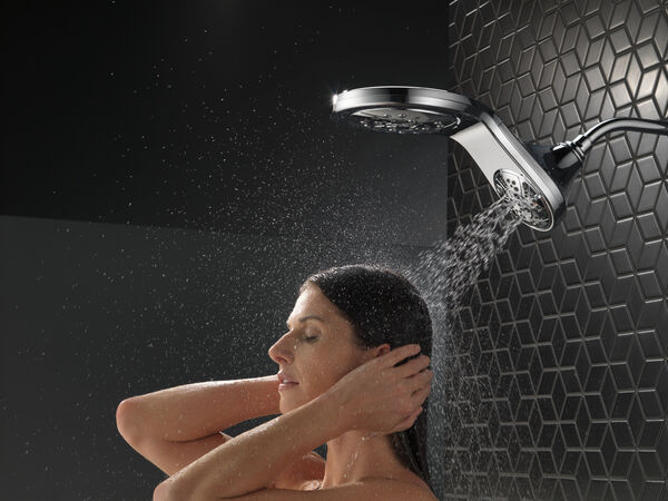 HydroRain® H<sub>2</sub>Okinetic® 5-Setting Two-in-One Shower Head, image 17
