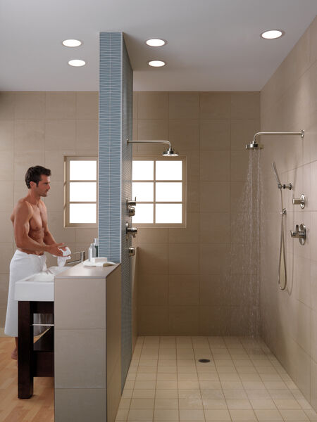 Premium Single-Setting Adjustable Wall Mount Hand Shower, image 6