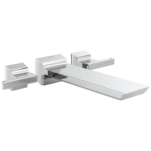Two Handle Wall Mounted Tub Filler, image 1