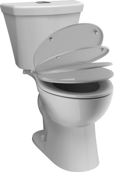 Round Front Dual-Flush Toilet, image 3