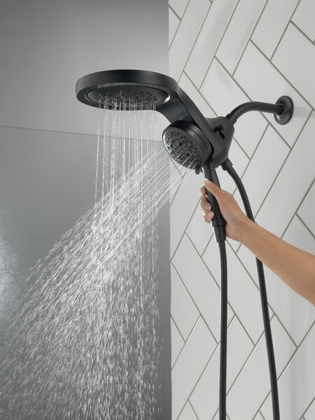 HydroRain® H<sub>2</sub>Okinetic® 5-Setting Two-in-One Shower Head, image 3