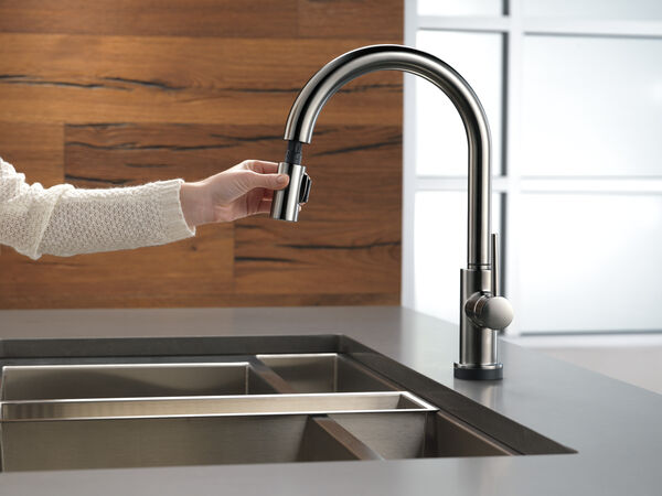 Single Handle Pull-Down Kitchen Faucet with Touch, image 7