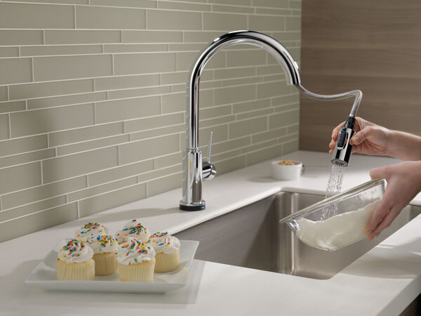 Single Handle Pull-Down Kitchen Faucet with Touch<sub>2</sub>O® Technology, image 7