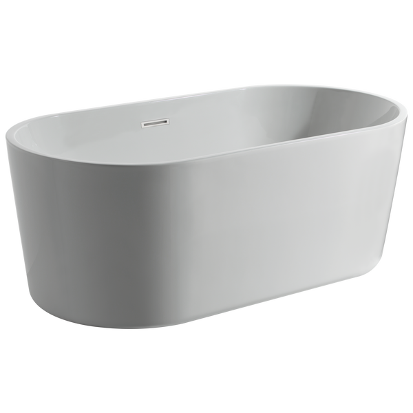 60 in. x 30 in. Freestanding Tub with Center Drain, image 1