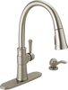Single Handle Pull-Down Kitchen Faucet with Soap Dispenser and ShieldSpray® Technology