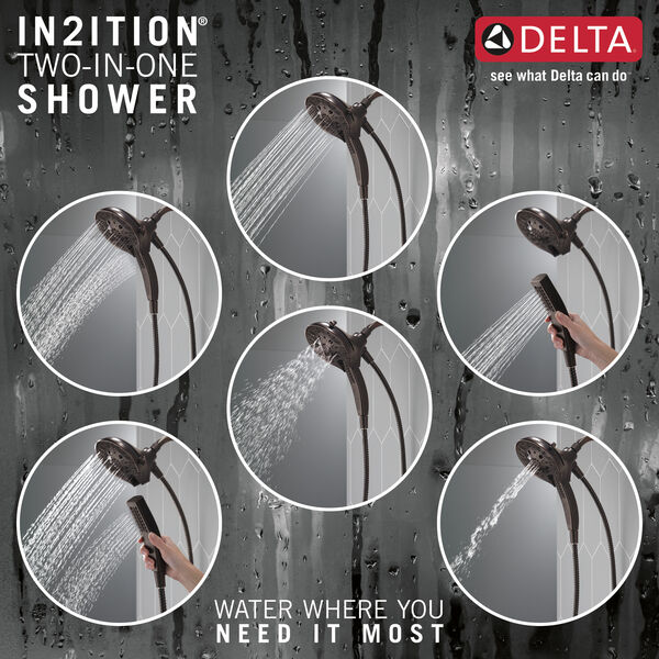 H2Okinetic®In2ition®5-Setting Two-in-One Shower, image 4