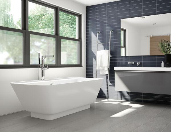 Single Handle Floor Mount Tub Filler Trim with Hand Shower, image 20