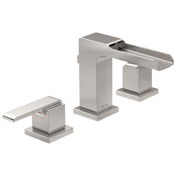 Two Handle Widespread Channel Bathroom Faucet, image 1