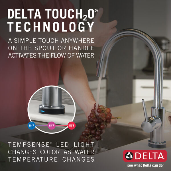 Single Handle Pull-Down Kitchen Faucet with Touch<sub>2</sub>O® Technology, image 32