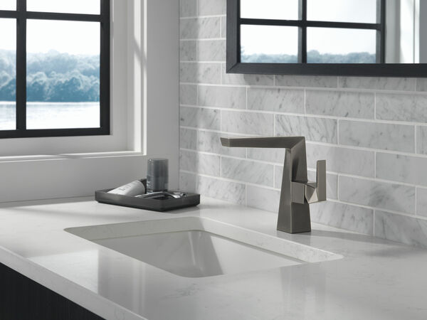 Single Handle Mid-Height Bathroom Faucet, image 4