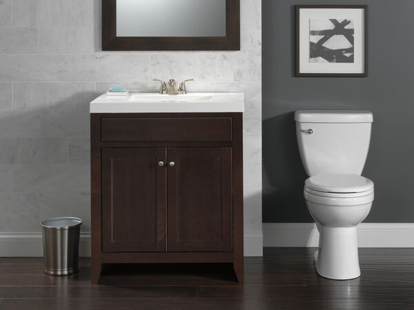 Round Front Toilet With Night Light Seat, image 2