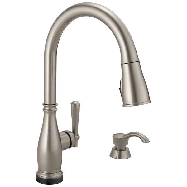 Single Handle Pull-Down Kitchen Faucet with Touch2O® and ShieldSpray® Technologies, image 1