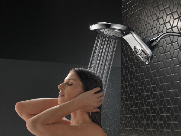 HydroRain® H<sub>2</sub>Okinetic® 5-Setting Two-in-One Shower Head, image 7