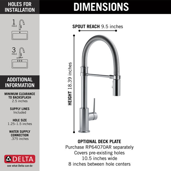 Single Handle Pull-Down Kitchen Faucet With Spring Spout, image 5
