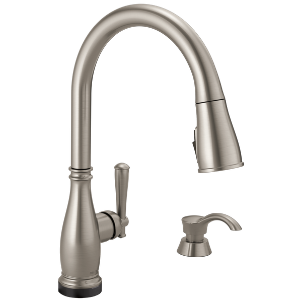 Single Handle Pull-Down Kitchen Faucet with Touch2O® and ShieldSpray® Technologies (Recertified), image 1