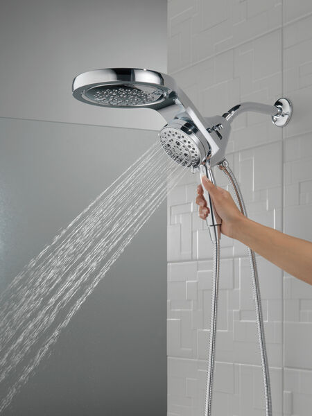 HydroRain® H<sub>2</sub>Okinetic® 5-Setting Two-in-One Shower Head, image 5