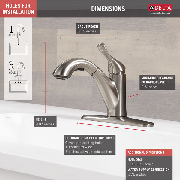 Kitchen Faucet 16953 Ss Dst Delta