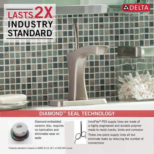 Single Handle Bathroom Faucet - Metal Pop-Up, image 2