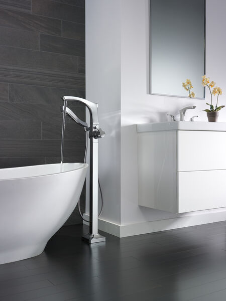 Two Handle Widespread Bathroom Faucet - Metal Pop-Up, image 6