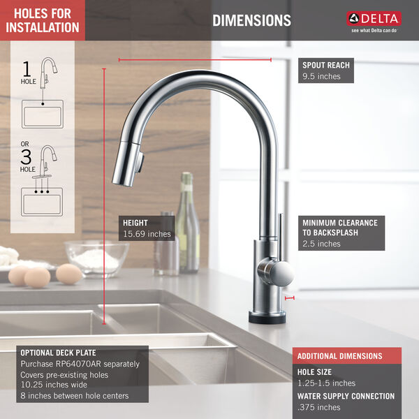 VoiceIQ™ Single-Handle Pull-Down Kitchen Faucet with Touch<sub>2</sub>O® Technology, image 24