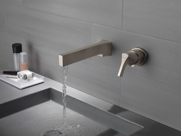 Single Handle Wall Mount Bathroom Faucet Trim, image 5