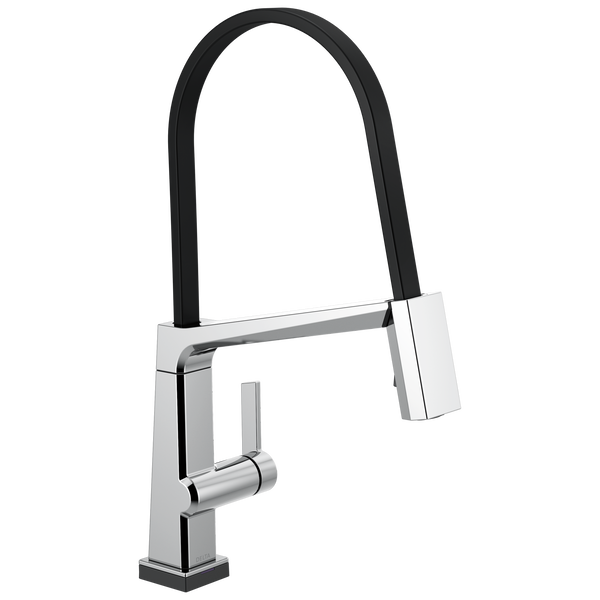 Single Handle Exposed Hose Kitchen Faucet with Touch<sub>2</sub>O Technology, image 1