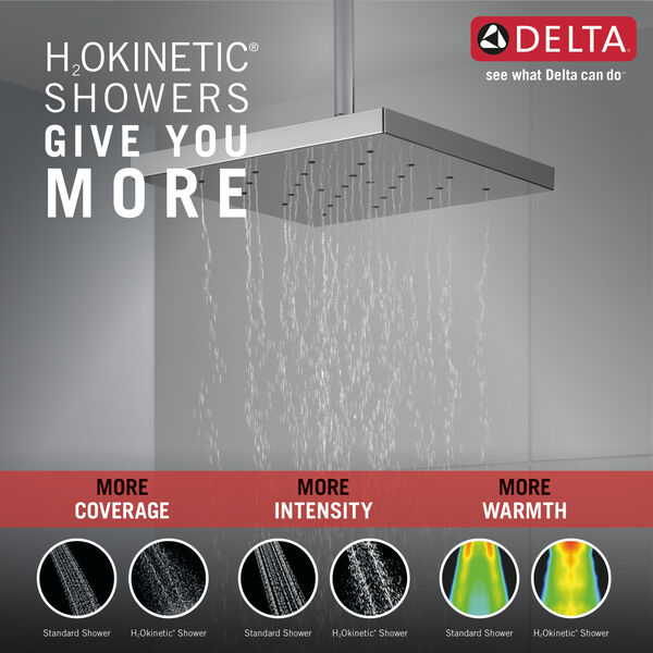 H2Okinetic® Single Setting Shower Head with UltraSoak™, image 2