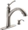 Single Handle Pull-Out Kitchen Faucet with Soap Dispenser