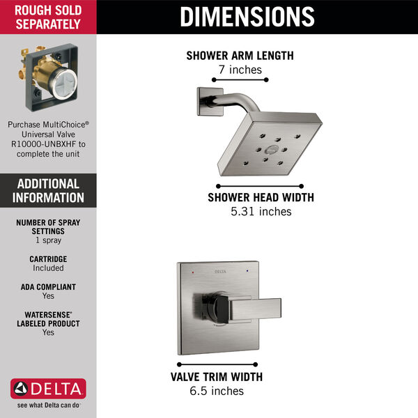 Monitor® 14 Series H2Okinetic® Shower Trim, image 3