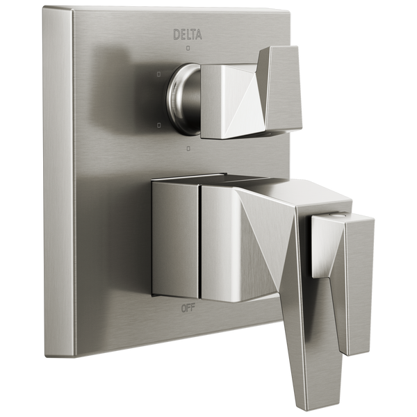 Two-Handle Monitor 17T Series Valve Trim with 6-Setting Diverter, image 1